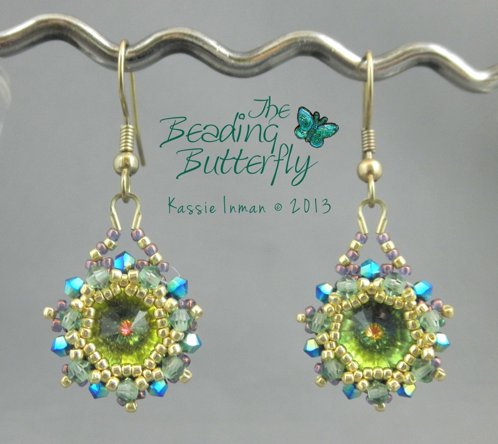Starburst Earrings Tutorial 7 50 The Beading Erfly Beaded Art And Jewelry By Kie
